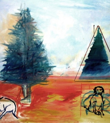 Site Pines- Two Dogs 40x50 SOLD