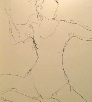 Dancer (charcoal) 30x22