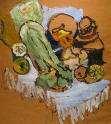 Still Life with Celery 33.5 x 31