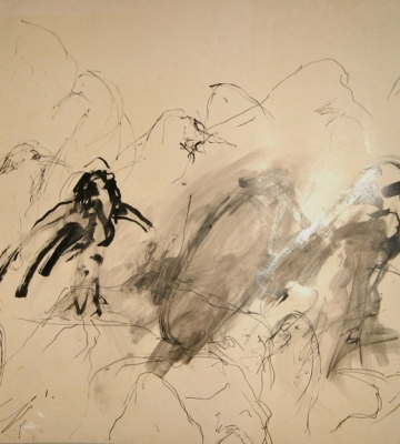 Birds (black ink) 35x47