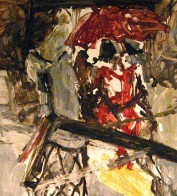 Red Umbrella in Studio 35x44.5