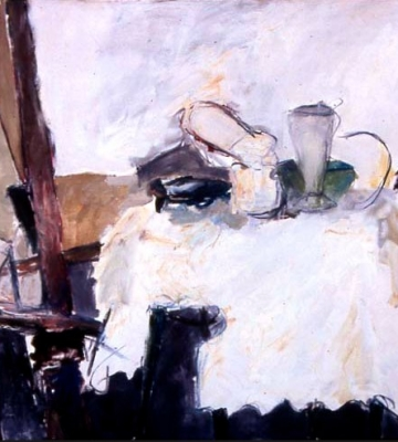 """Dining Table with Green Vase 52""""x60"""""""
