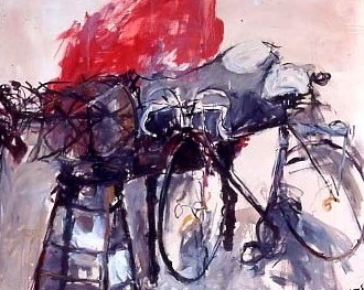 Bicycle and Mannequin 54x66