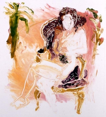 Jessica on Nefertetti Chair I 35x40