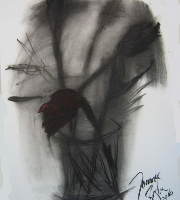 Ginger and Birds-Charcoal