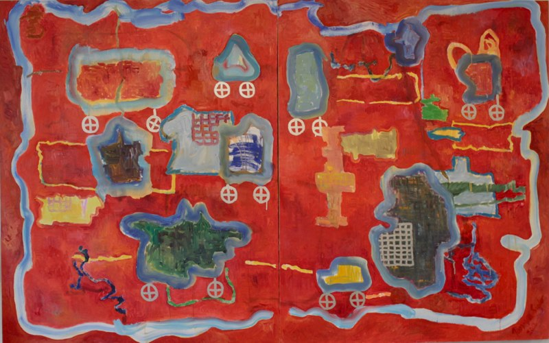 """Gizmos and Thingamajigs with Plaid Vests 50"""" x 80"""""""