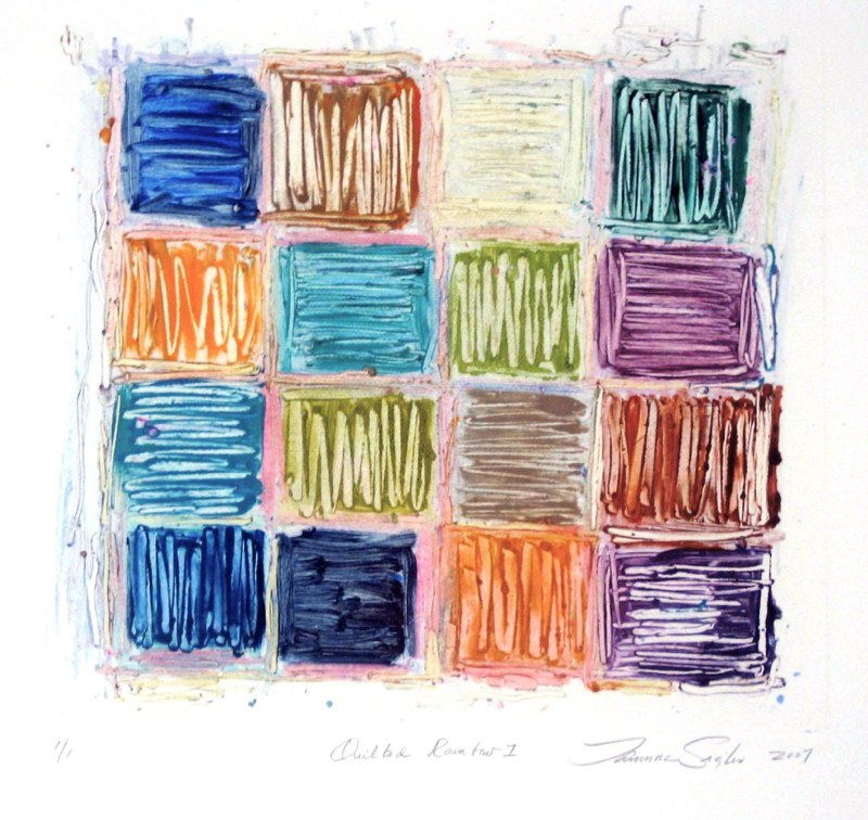 Quilted Rainbow I