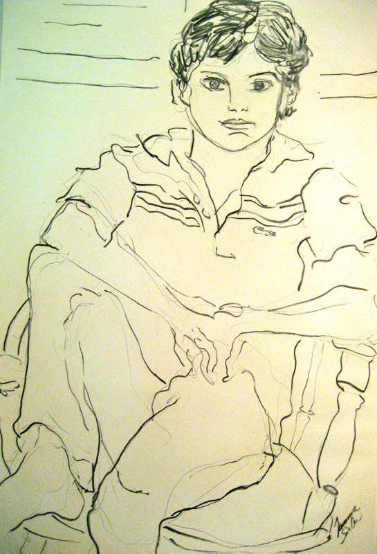 ll Draw You if You Draw Me II 30c26 charcoal/paper c. 1977