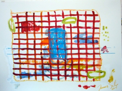 Playhouse - Reb Brick Blue Door 22x30