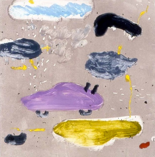 Cars and Clouds I 17 x 16