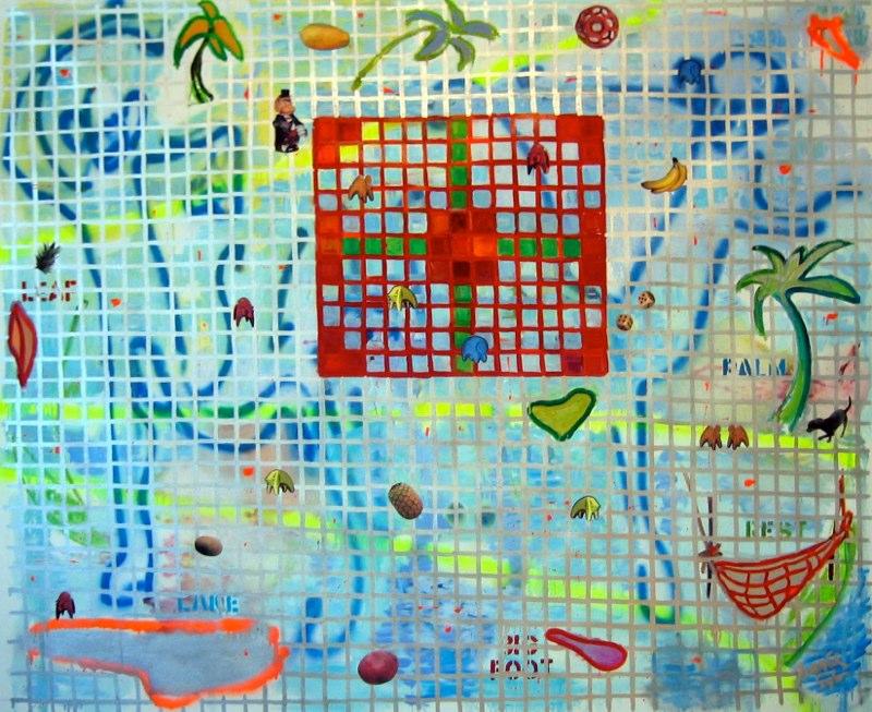 Gameboard - Primate Parcheesi 54 x 66
