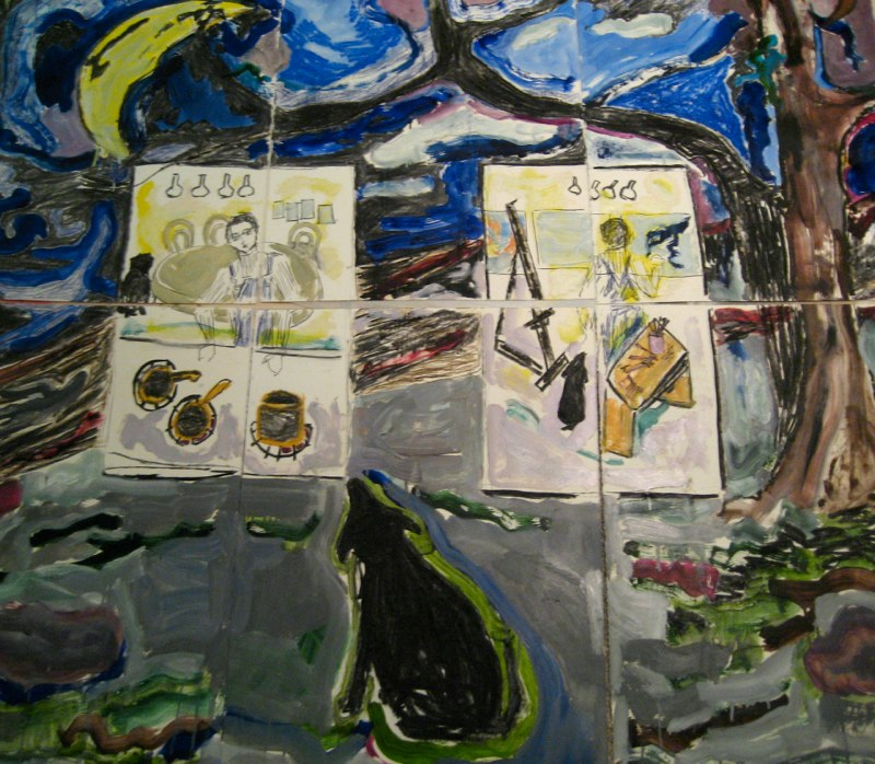 Self Portrait Kitchen/Studio (nine panels)